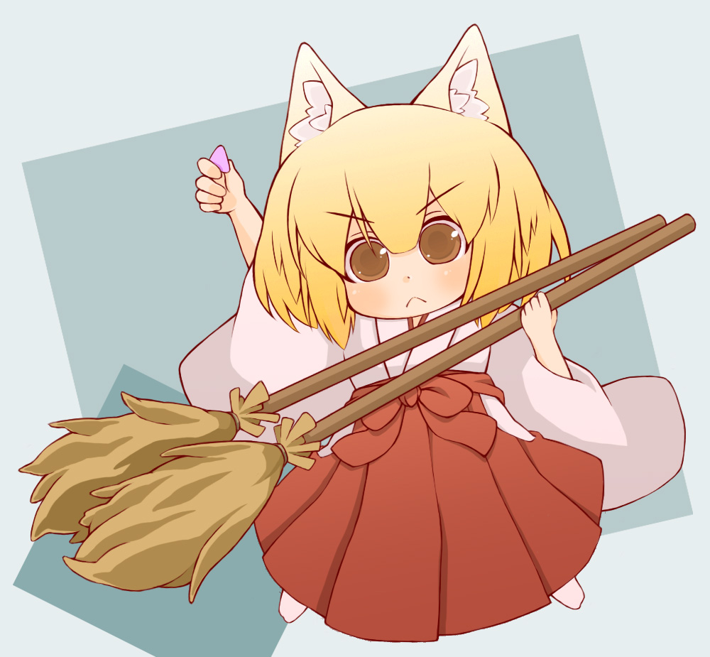 anime chibi broom